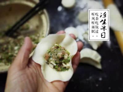 香椿猪肉锅贴步骤