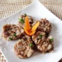 笋干菜蒸肉饼