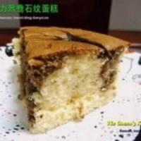 巧克力鸳鸯石纹蛋糕