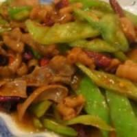 青椒炒鸭肠