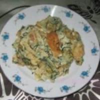 野葱虾皮炒蛋