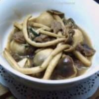 罗勒双菇炒牛肉片