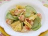 翡翠鲜虾炒蛋